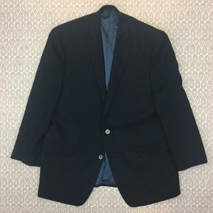 Calvin Klein Men's Black Striped Blazer SZ 44 R Y2